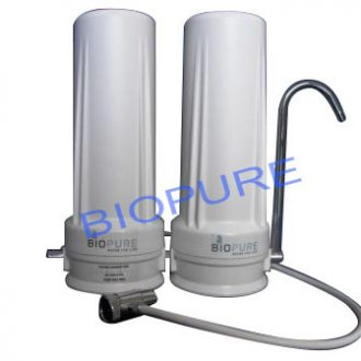 Double Countertop Fluoride Removal Portable Water Filter System