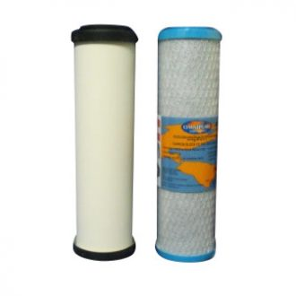 Ceramic and carbon replacement water filter cartridges 10 inch