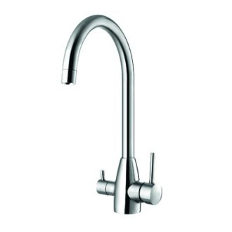 three way tap stainless steel