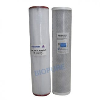 Whole House Twin Replacement Cartridges 20 inch x 4.5 inch 5 micron