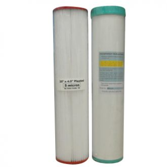 Whole House Replacement Twin Filters Silver Carbon Refillable