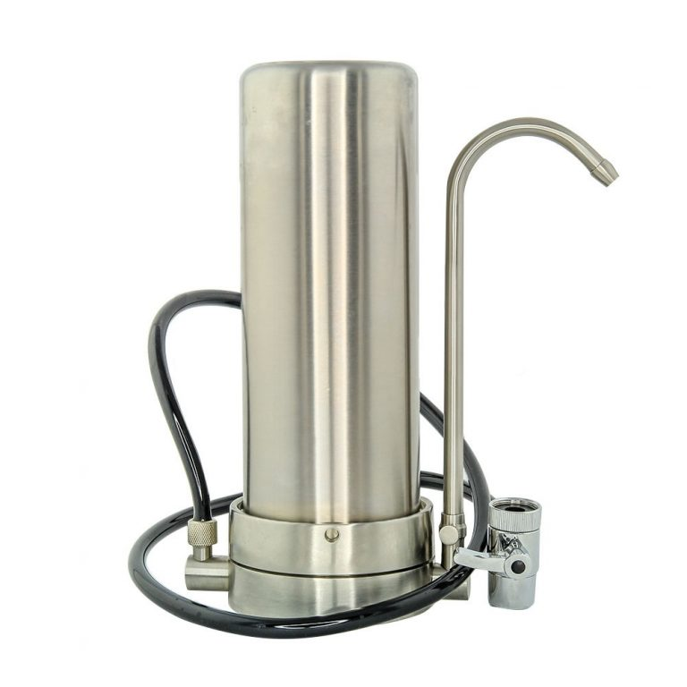 Stainless Steel Countertop Water Filter 0.5 Micron Absolute