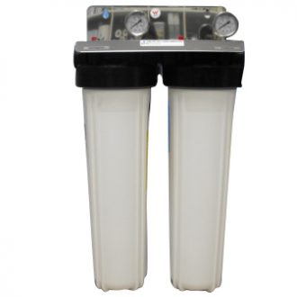 Whole House Water Filter System Twin Watermark Certified 5 Micron Silver Carbon 20 x 4.5 inch
