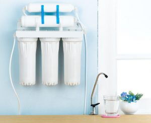 water filtration system and tap on house